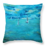 Before The Storm Throw Pillow by Chaline Ouellet