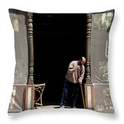 Before The Throng Throw Pillow