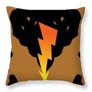 Before The Thunder Comes Down... Throw Pillow