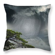 Before Thunderstorm Throw Pillow