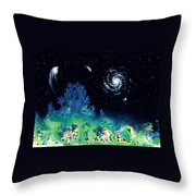 Beginning Of The Great Voyage Throw Pillow