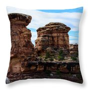 Beginning Of The Slick Rock Trail Throw Pillow