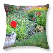 Begonia And Rose Throw Pillow