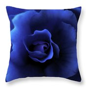 Begonia Floral Dark Secrets Throw Pillow