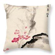 Begonia Flowers Throw Pillow