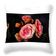 Begonia In Pink Throw Pillow
