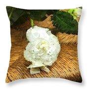 Begonia In Repose Throw Pillow