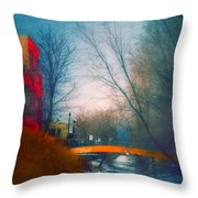 Behind Front Street Throw Pillow
