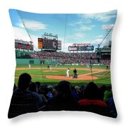 Behind Home Plate At Fenway Throw Pillow