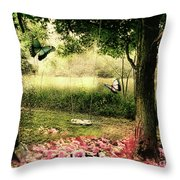 Behind Our House Throw Pillow