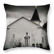 Behind The Church Throw Pillow