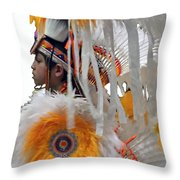 Behind The Feathers-3 Throw Pillow