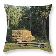Behind The Grove Throw Pillow