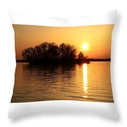 Behind The Island Throw Pillow