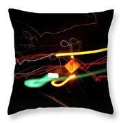 Behind The Lights Throw Pillow