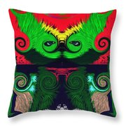 Behind The Looking Glass Throw Pillow