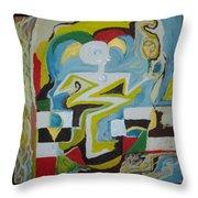 Behind The Moon. Artist. Throw Pillow