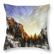 Behind The Mountains  Throw Pillow