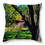 Behind The Old Oak Tree Vertical Throw Pillow