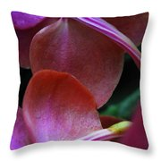 Behind The Orchids Throw Pillow