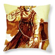 Behind The Plow Throw Pillow