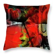 Behind The Poppies Throw Pillow