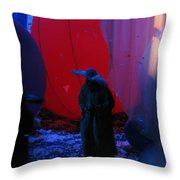 Behind The Smile Throw Pillow