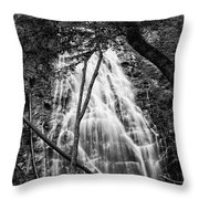 Behind The Tree-bw Throw Pillow