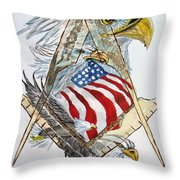 Behind The Veil Outside The Box Throw Pillow