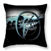 Behind The Wheel Throw Pillow