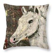 Behold A White Horse Throw Pillow