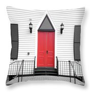 Behold I Stand And Knock Throw Pillow