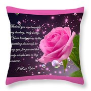 Behold You Are Beautiful Throw Pillow