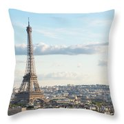 Paris Roofs And Tower Throw Pillow