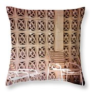 Beige Chairs Palm Springs Throw Pillow