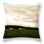 Beige Skies Smiling Above Throw Pillow