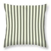 Beige White Striped Pattern Design Throw Pillow
