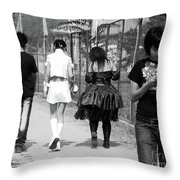 Beijing City 13 Throw Pillow