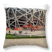 Beijing National Olympic Stadium Throw Pillow