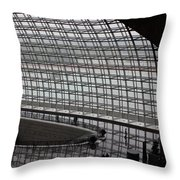 Beijing National Theatre With Silhouettes  Throw Pillow