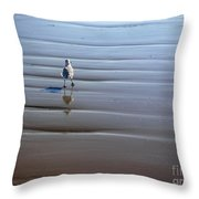 Being One With The Gulf - Escaping Throw Pillow