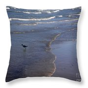 Being One With The Gulf - Vigilant Throw Pillow