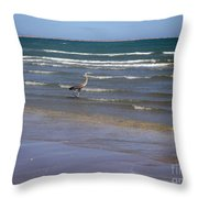 Being One With The Gulf - Wading Throw Pillow