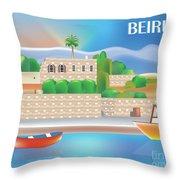 Beirut Lebanon Horizontal Scene Throw Pillow