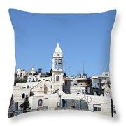 Beit Jala Christian Town Throw Pillow