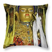 Bejeweled Buddha Throw Pillow