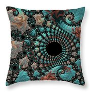 Bejeweled Fractal Throw Pillow