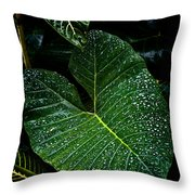 Bejeweled Leaf Throw Pillow