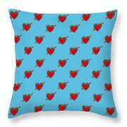 Bejewelled Heart Half Drop Throw Pillow