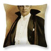 Bela Lugosi As Dracula Throw Pillow